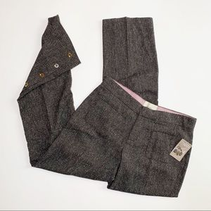 Elevenses   Tweed Wide Leg Button Trouser NWT   8